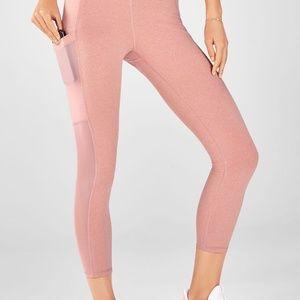 Pink Fabletic High Wasted Pocket Capri Leggings